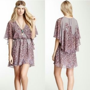 NWOT Free People Sparks Fly Cape Dress